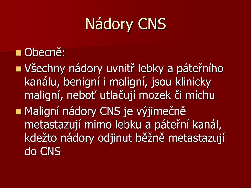 Nádory CNS