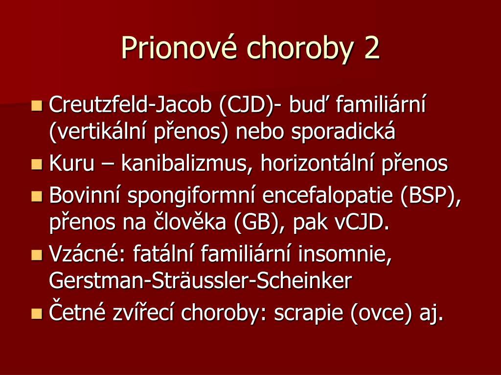 Prionové choroby 2