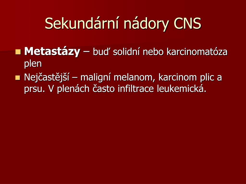 Sekundární nádory CNS