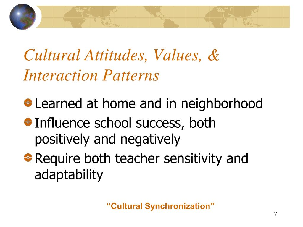 Cultural Attitudes, Values, & Interaction Patterns