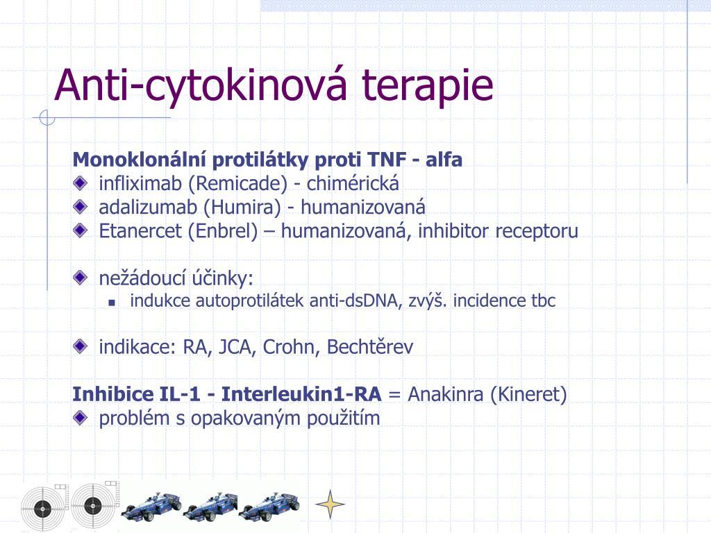 Anti-cytokinová terapie