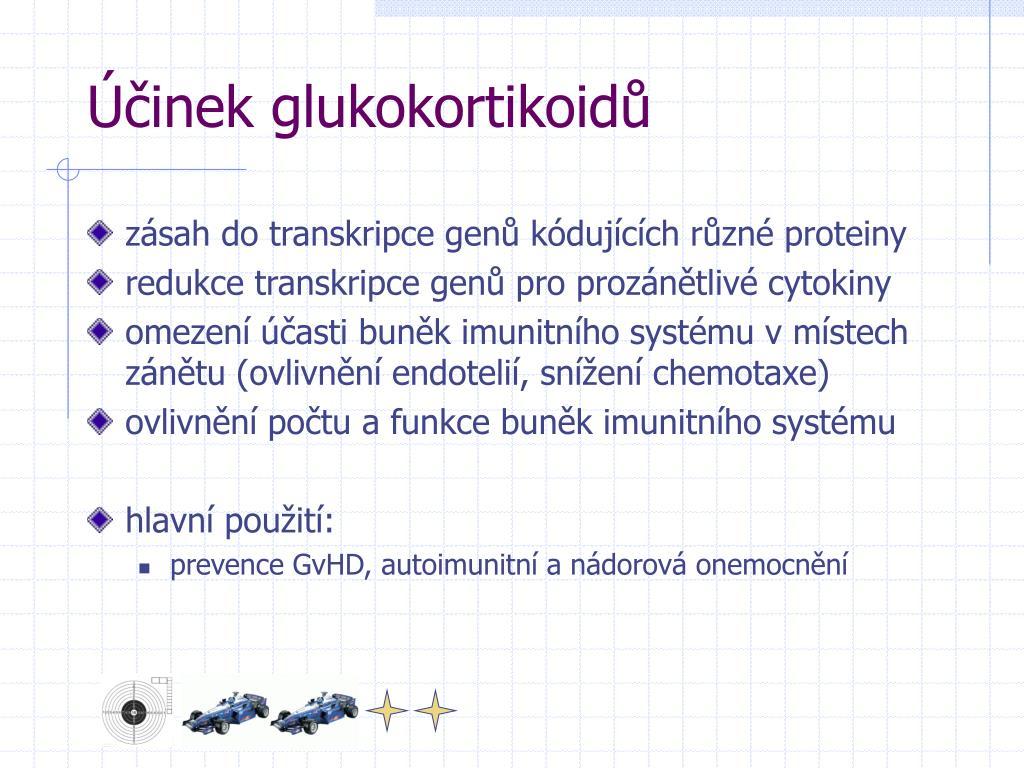 Účinek glukokortikoidů