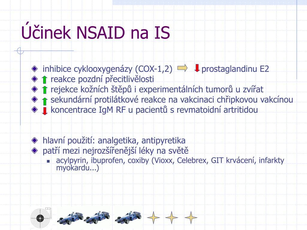 Účinek NSAID na IS