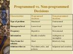 programmed vs non programmed decisions