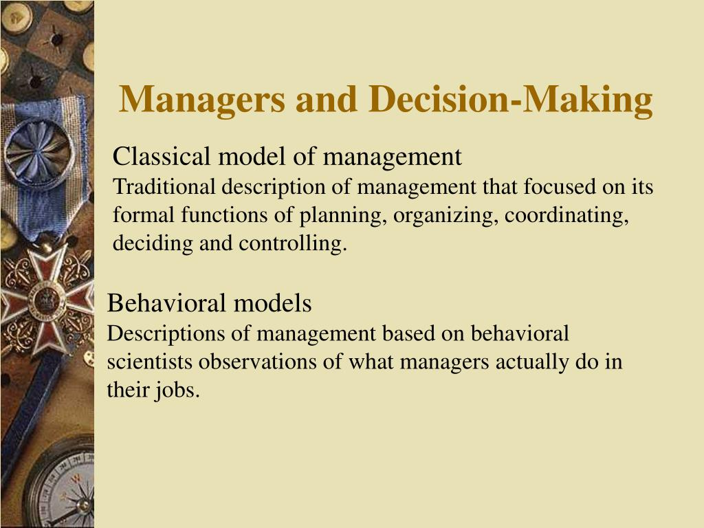Managers and Decision-Making