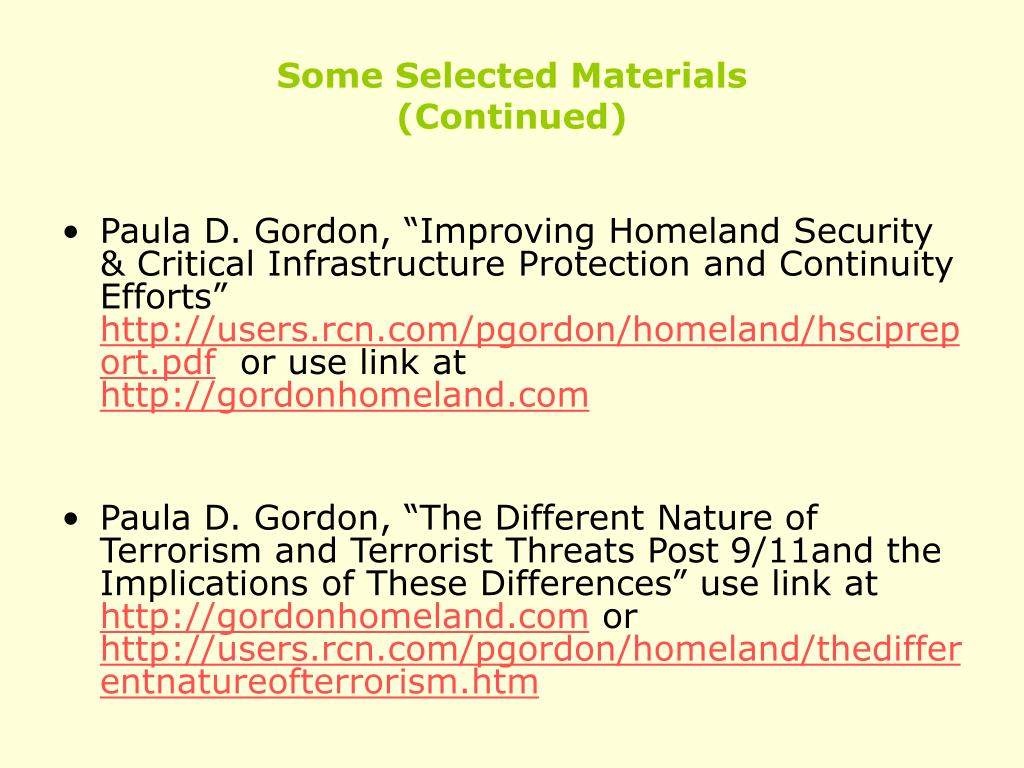 Some Selected Materials