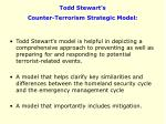 todd stewart s counter terrorism strategic model