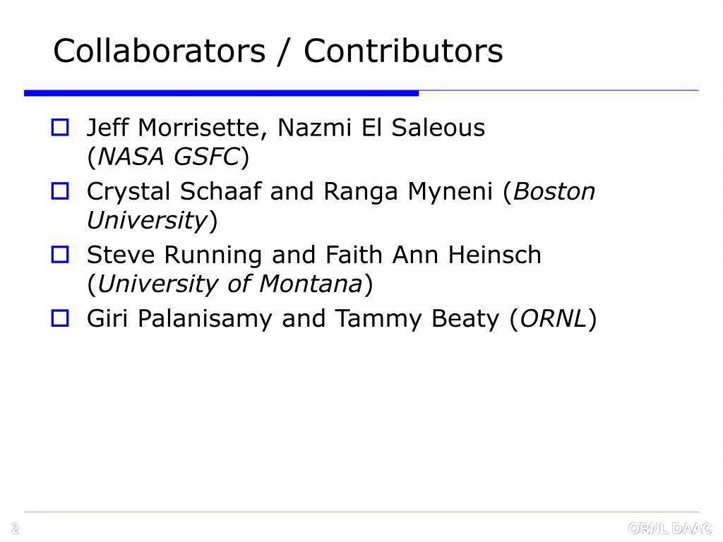Collaborators / Contributors