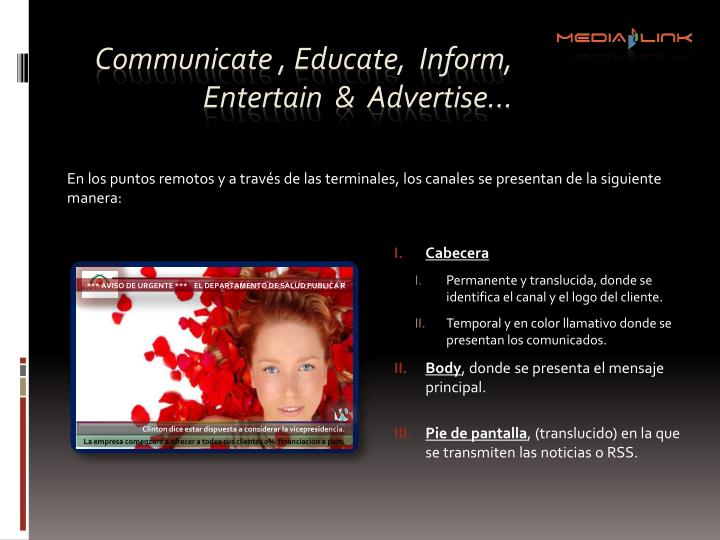 Communicate ,