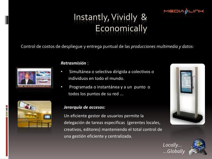 Instantly, Vividly  & Economically