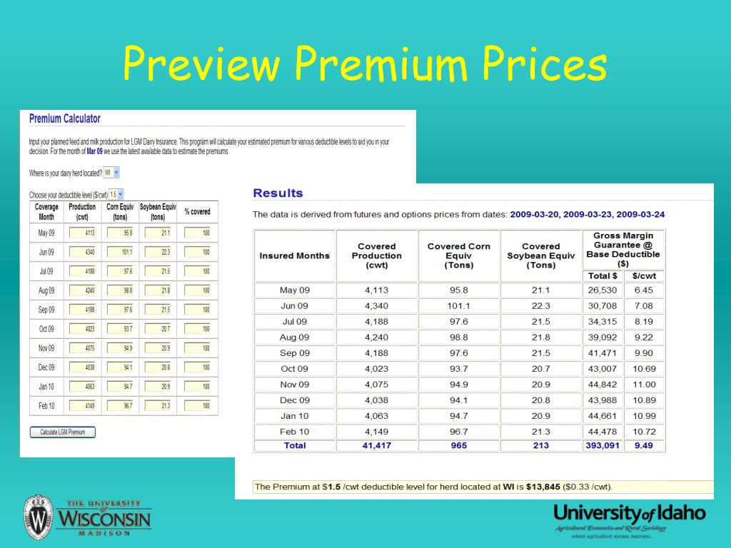 Preview Premium Prices