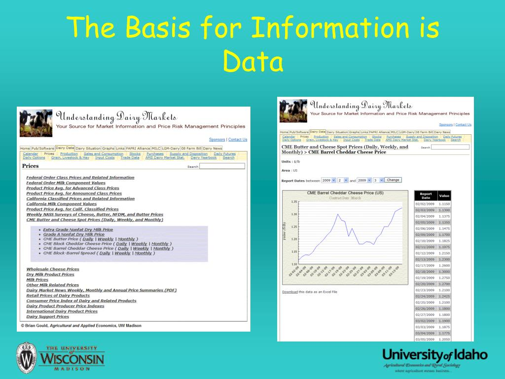 The Basis for Information is Data