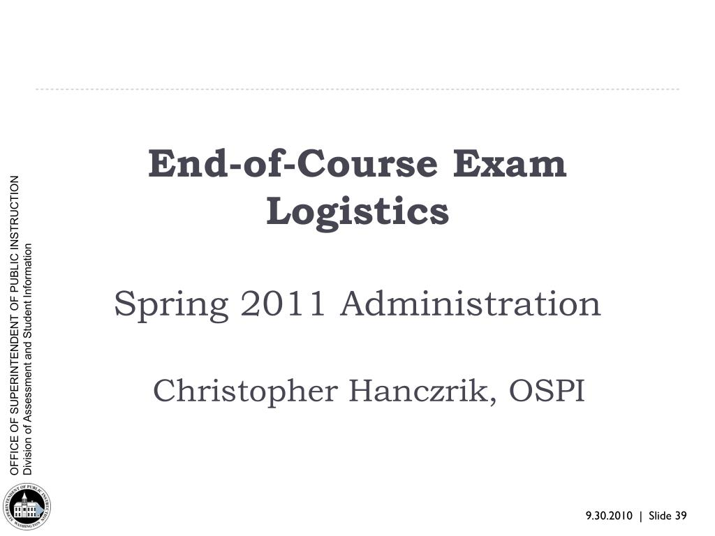 End-of-Course Exam