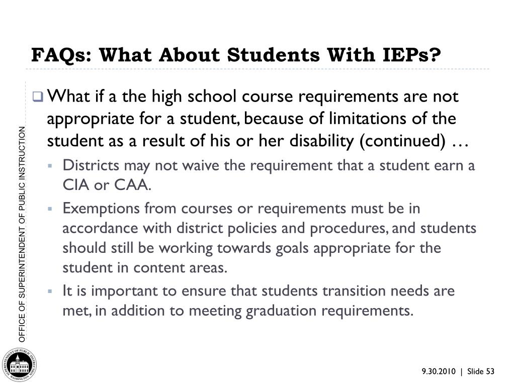 FAQs: What About Students With IEPs?