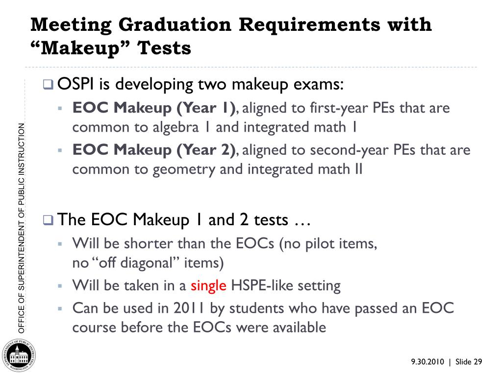 "Meeting Graduation Requirements with ""Makeup"" Tests"