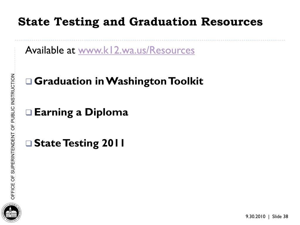 State Testing and Graduation Resources