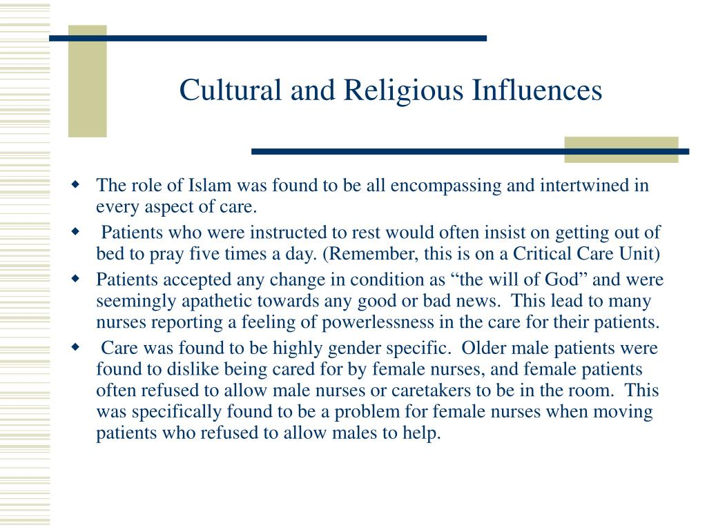 Cultural and Religious Influences