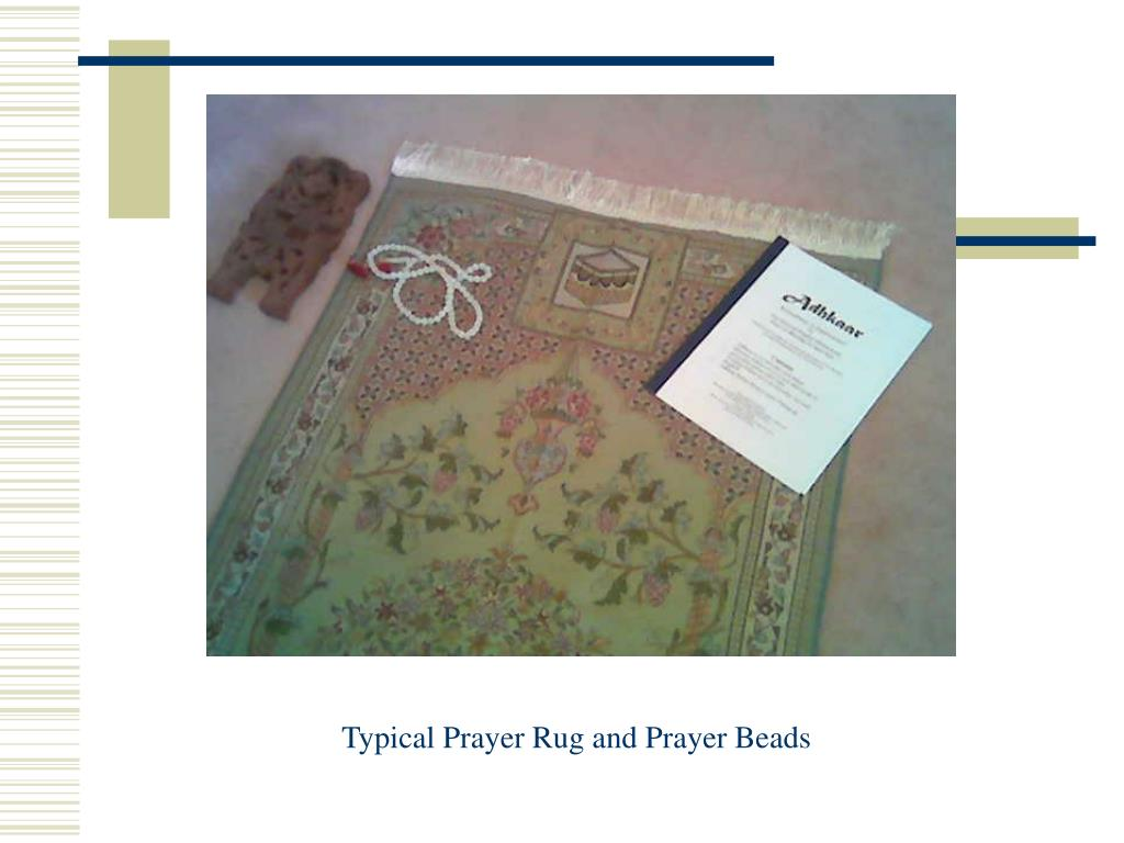 Typical Prayer Rug and Prayer Beads