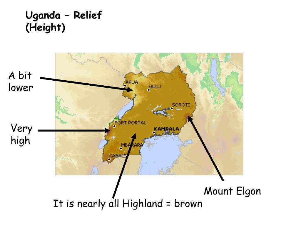 Uganda – Relief (Height)