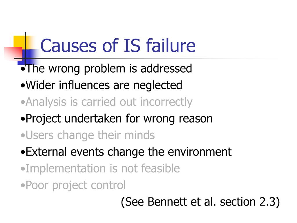 Causes of IS failure