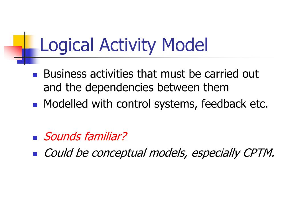 Logical Activity Model