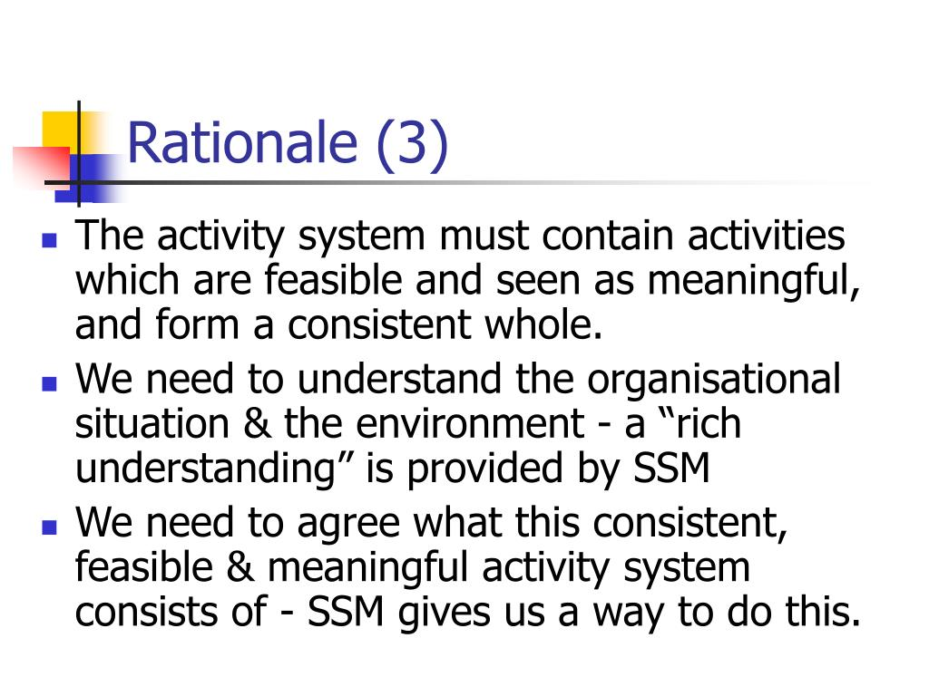 Rationale (3)
