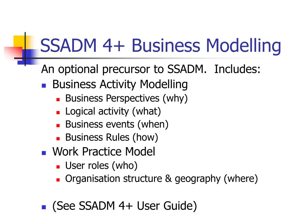 SSADM 4+ Business Modelling