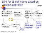 ssm for is definition based on wilson s approach11