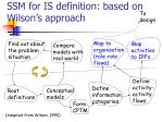 ssm for is definition based on wilson s approach15