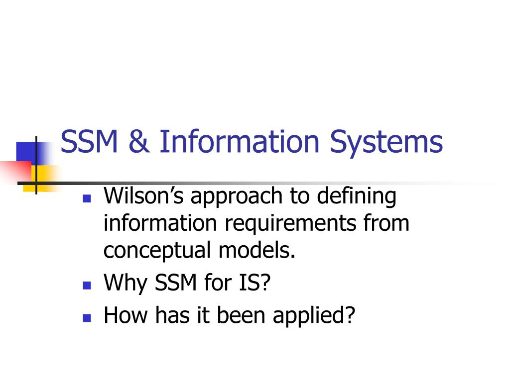SSM & Information Systems