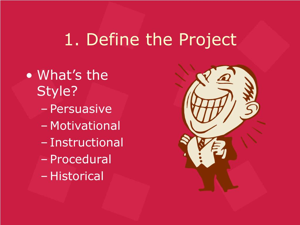 1. Define the Project