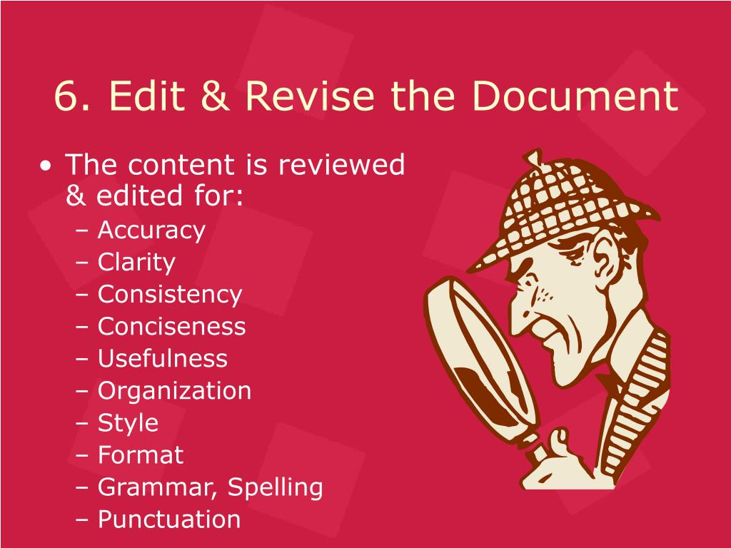 6. Edit & Revise the Document