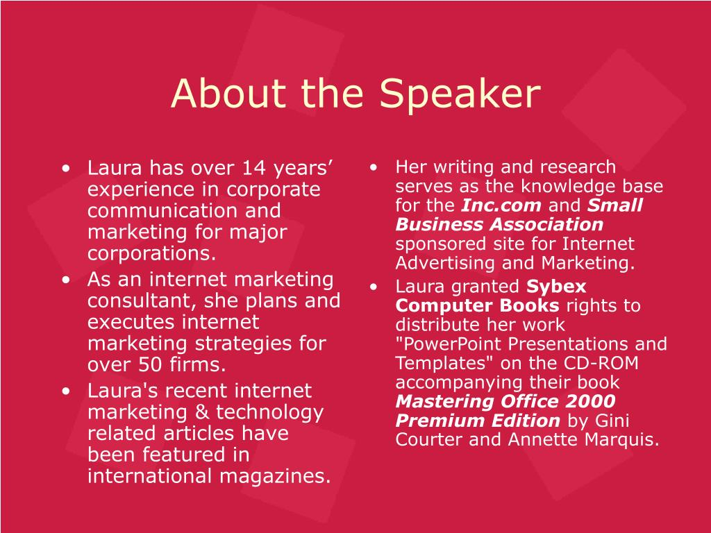Laura has over 14 years' experience in corporate communication and marketing