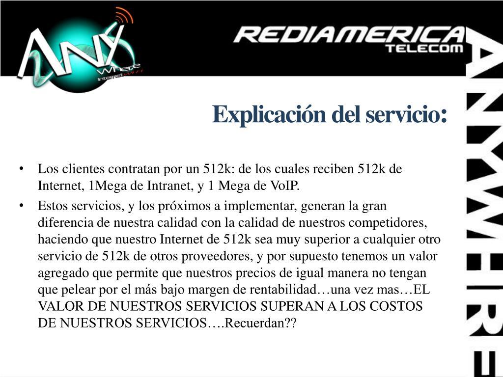 Explicación del servicio