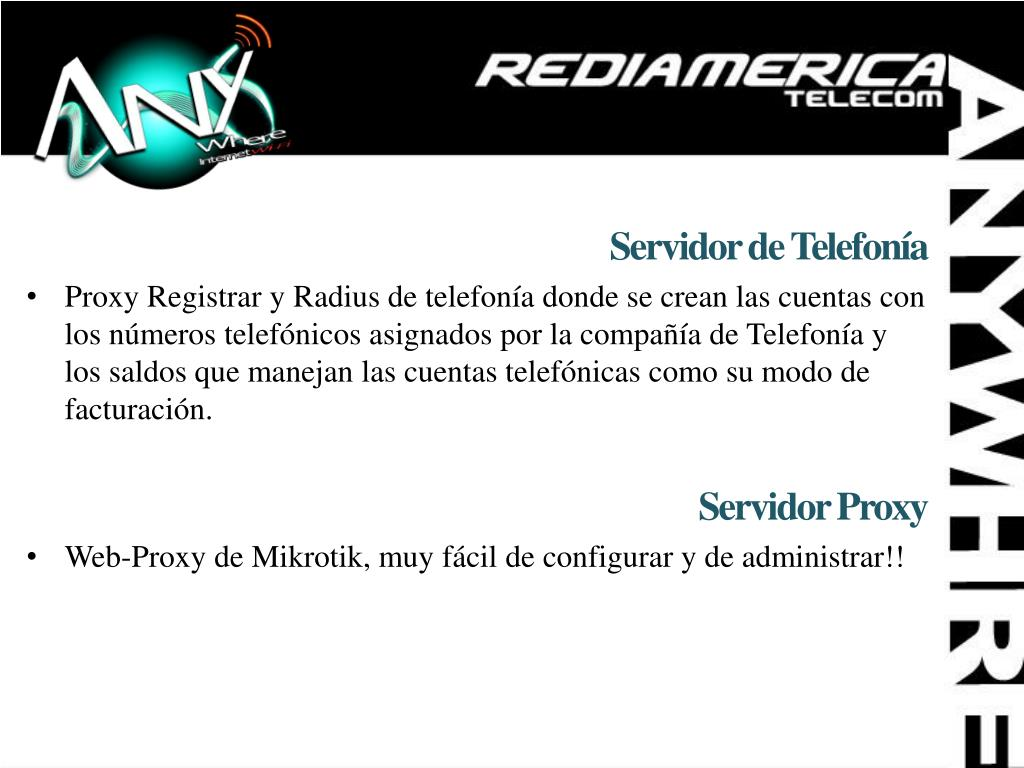 Servidor de Telefonía