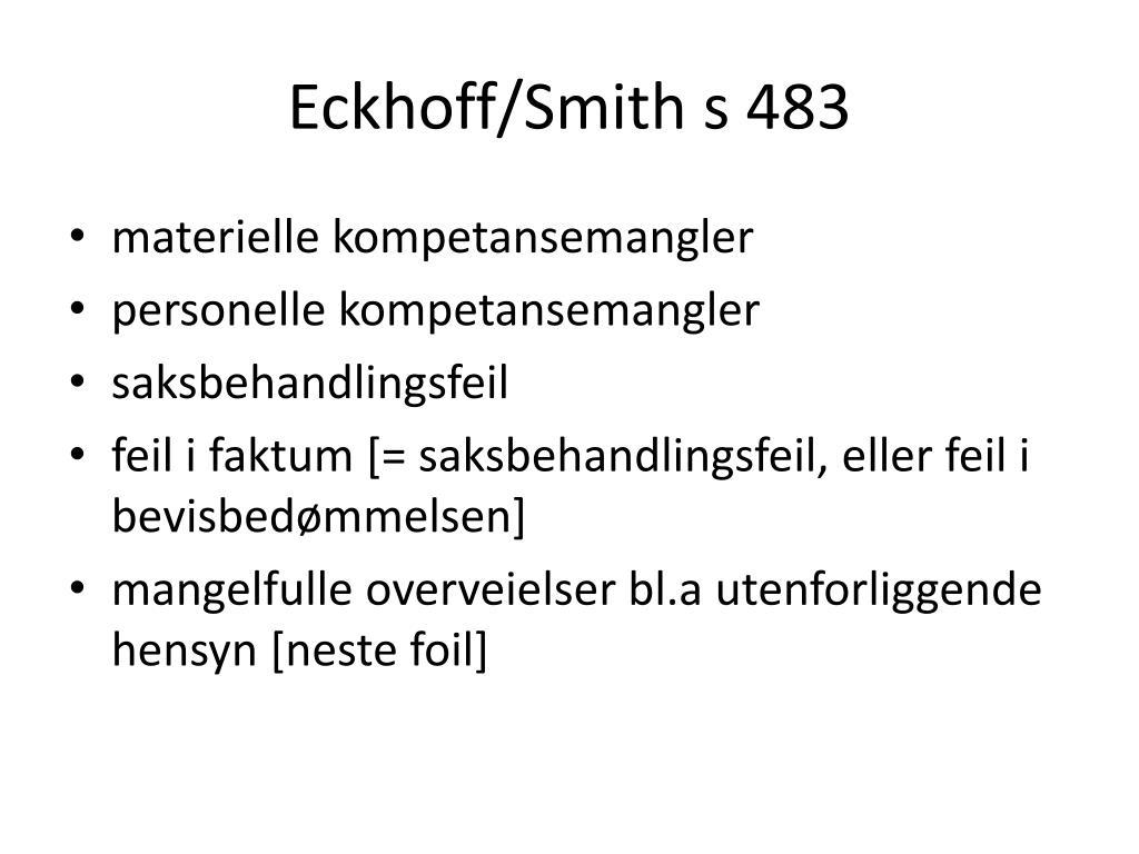 Eckhoff/Smith s 483
