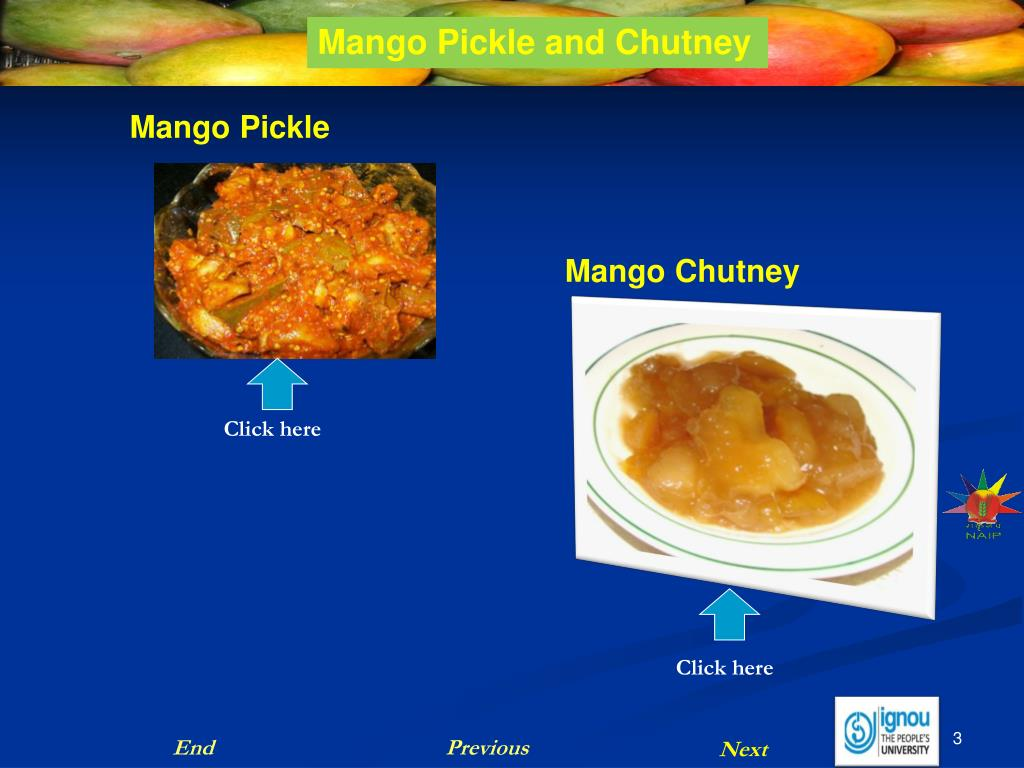 Mango Pickle and Chutney