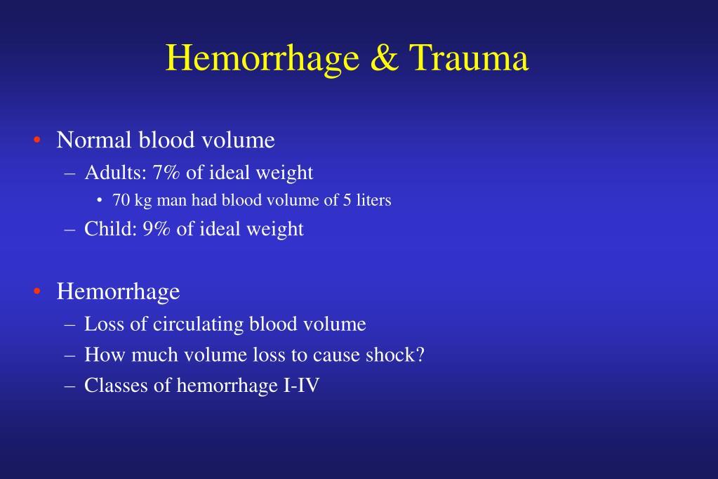 Hemorrhage & Trauma
