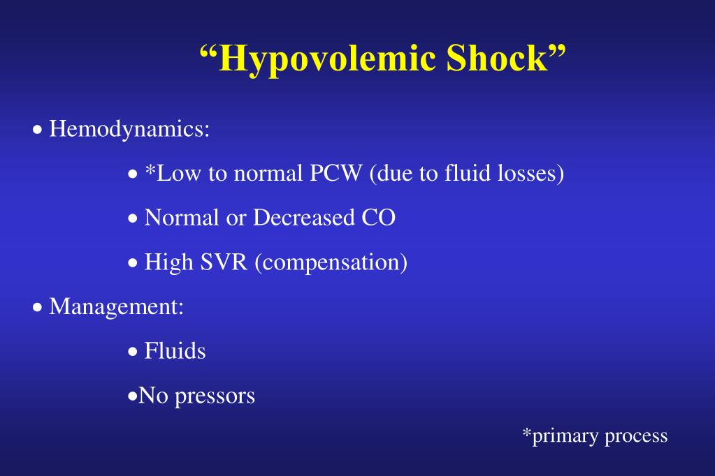 """Hypovolemic Shock"""