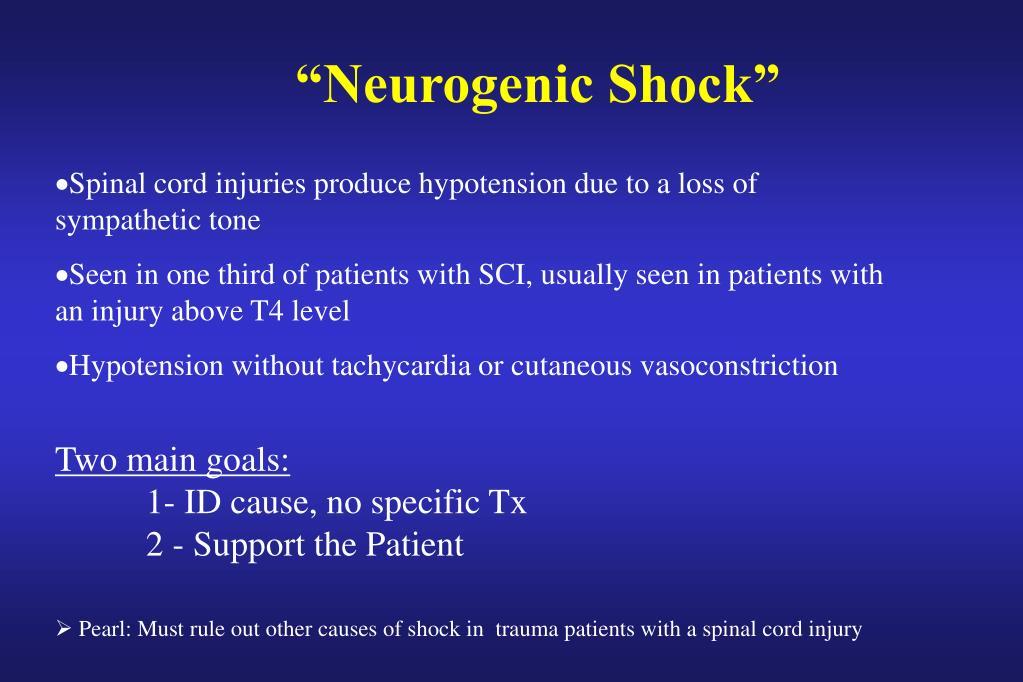 """Neurogenic Shock"""