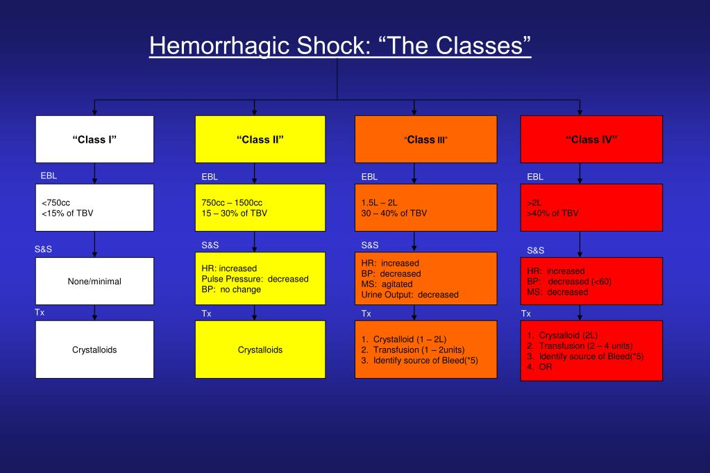 "Hemorrhagic Shock: ""The Classes"""