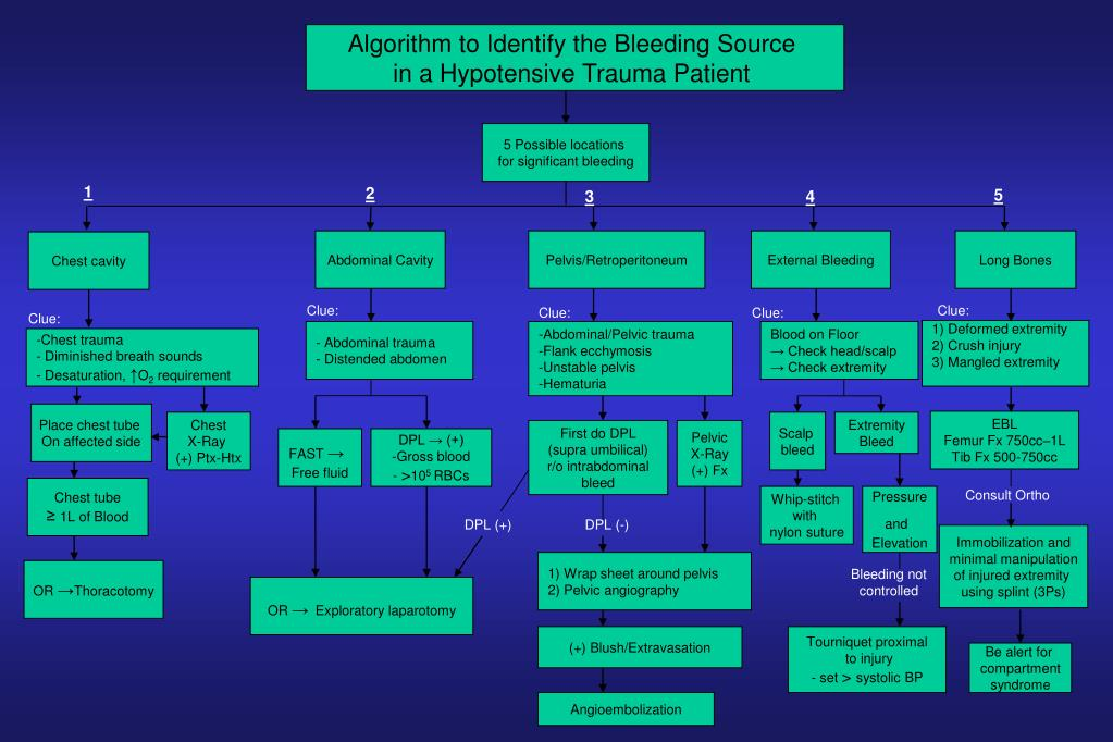 Algorithm to Identify the Bleeding Source