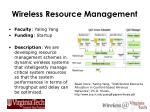 wireless resource management