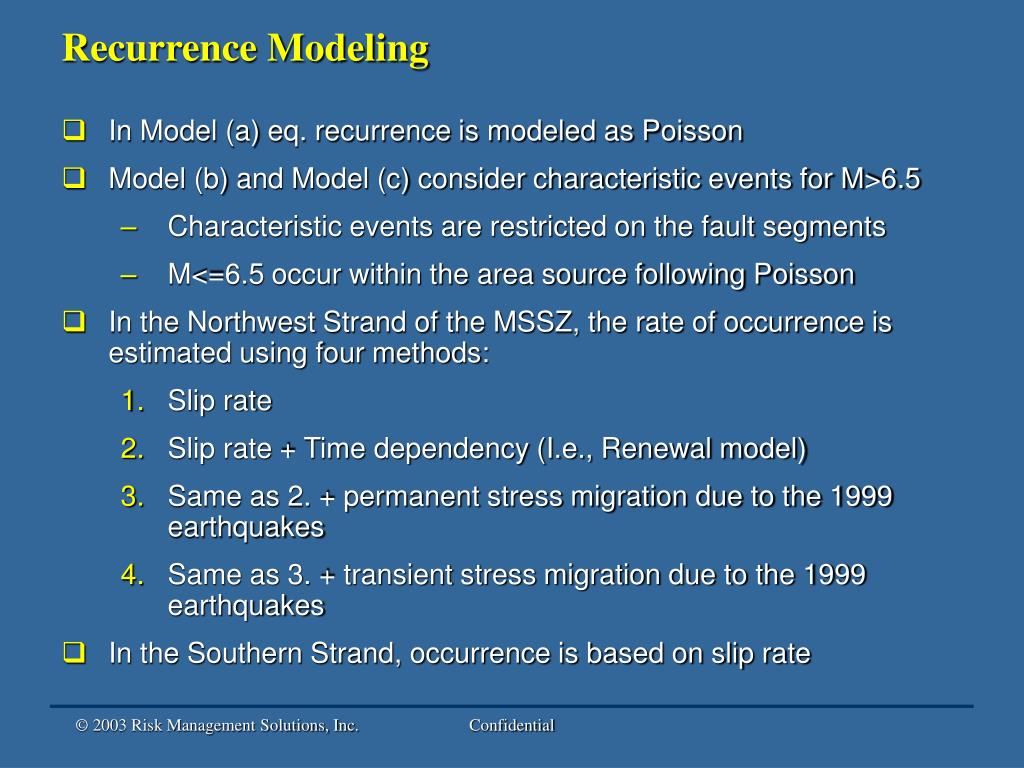 Recurrence Modeling