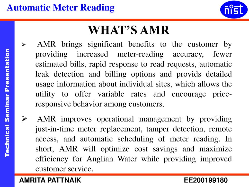 WHAT'S AMR