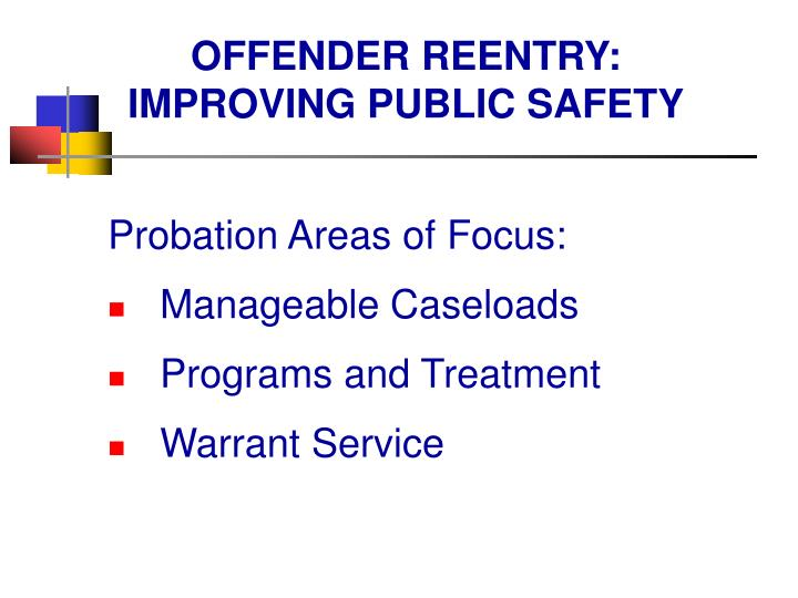 OFFENDER REENTRY: