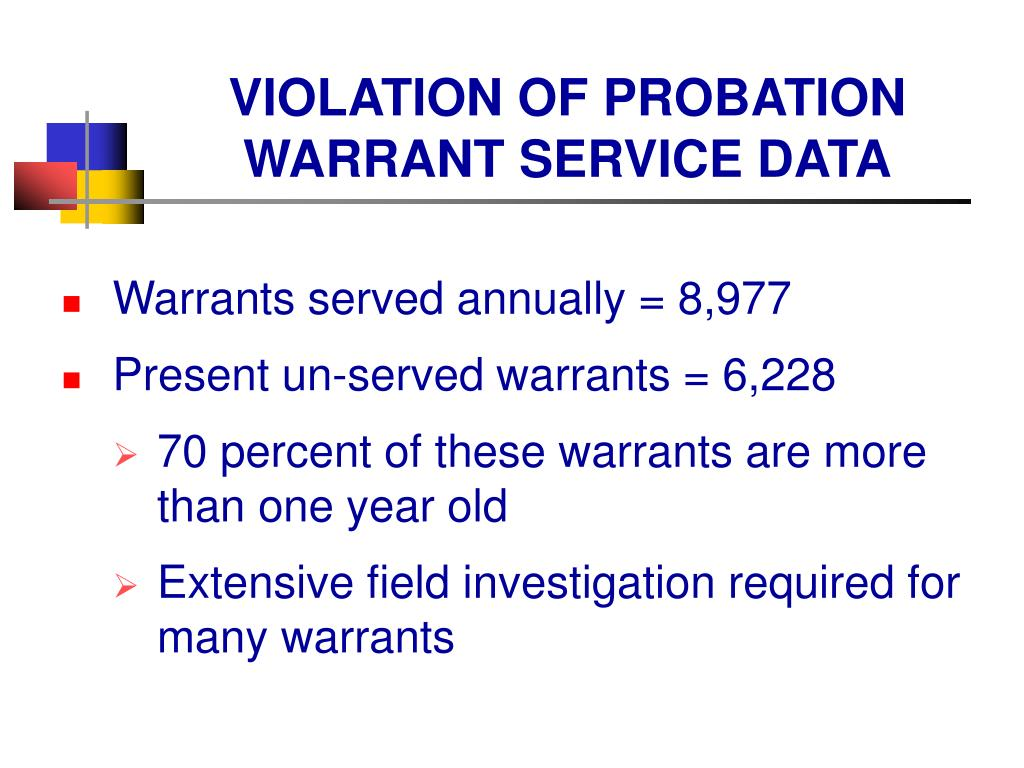 VIOLATION OF PROBATION WARRANT SERVICE DATA