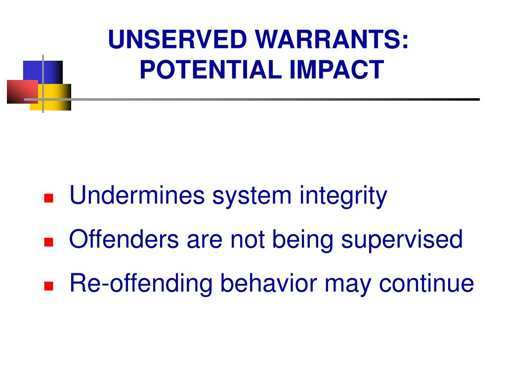 UNSERVED WARRANTS: