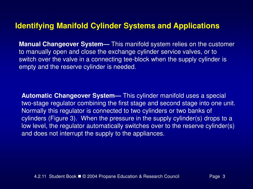 Identifying Manifold Cylinder Systems and Applications