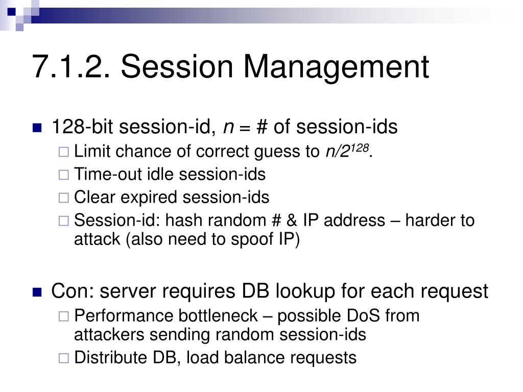 7.1.2. Session Management